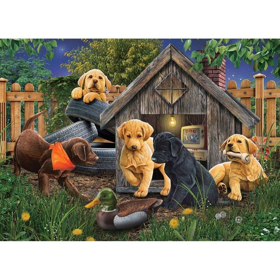 In het Hondenhok - puzzel van 1000 stukjes-1