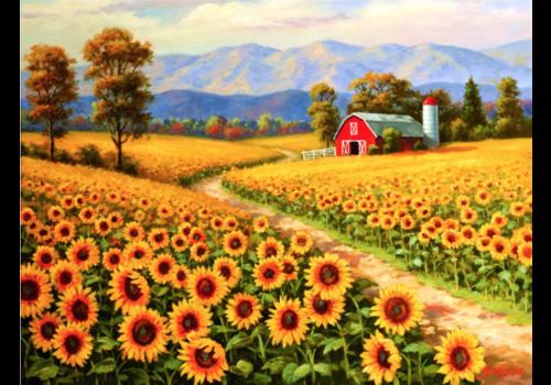 SUNSOUT Zonnebloemen in bloei - 300 XXL stukjes