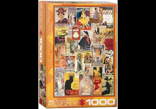 Eurographics Puzzles Theater & Opera Vintage Posters - 1000 stukjes