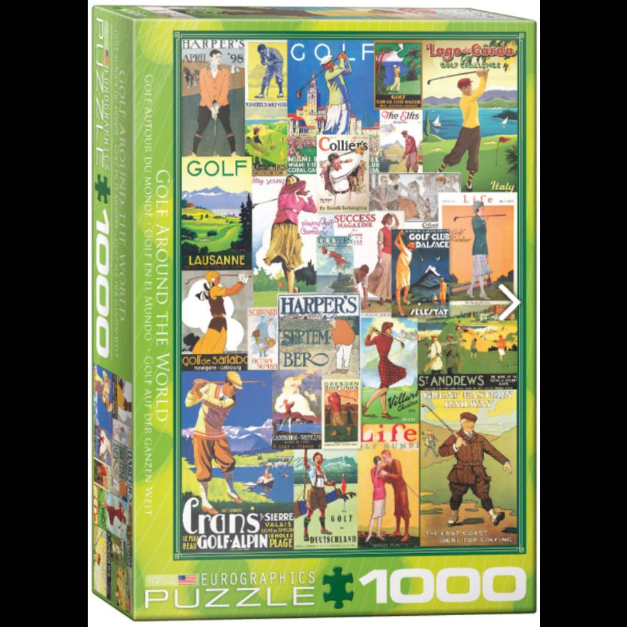 Golf rond de wereld - puzzel van 1000 stukjes-1
