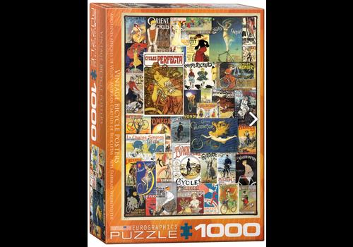 Eurographics Puzzles Anciennes Affiches de Vélo - 1000 pièces