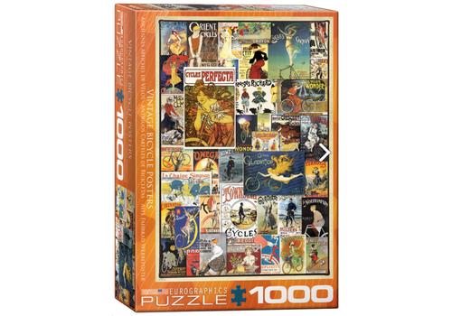Eurographics Puzzles Vintage Fiets Posters - 1000 stukjes