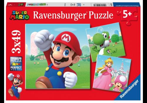 Ravensburger Super Mario - 3 x 49 stukjes