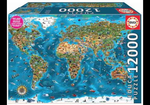 Educa Wonderen  van de wereld - 12000 stukjes