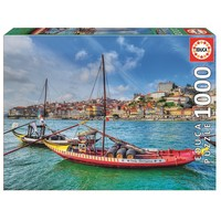 thumb-Rabelo boten, Porto - puzzel 1000 stukjes-2