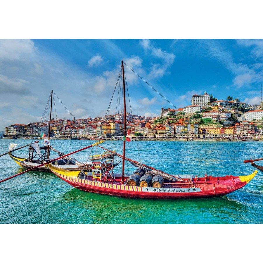 Rabelo boten, Porto - puzzel 1000 stukjes-1