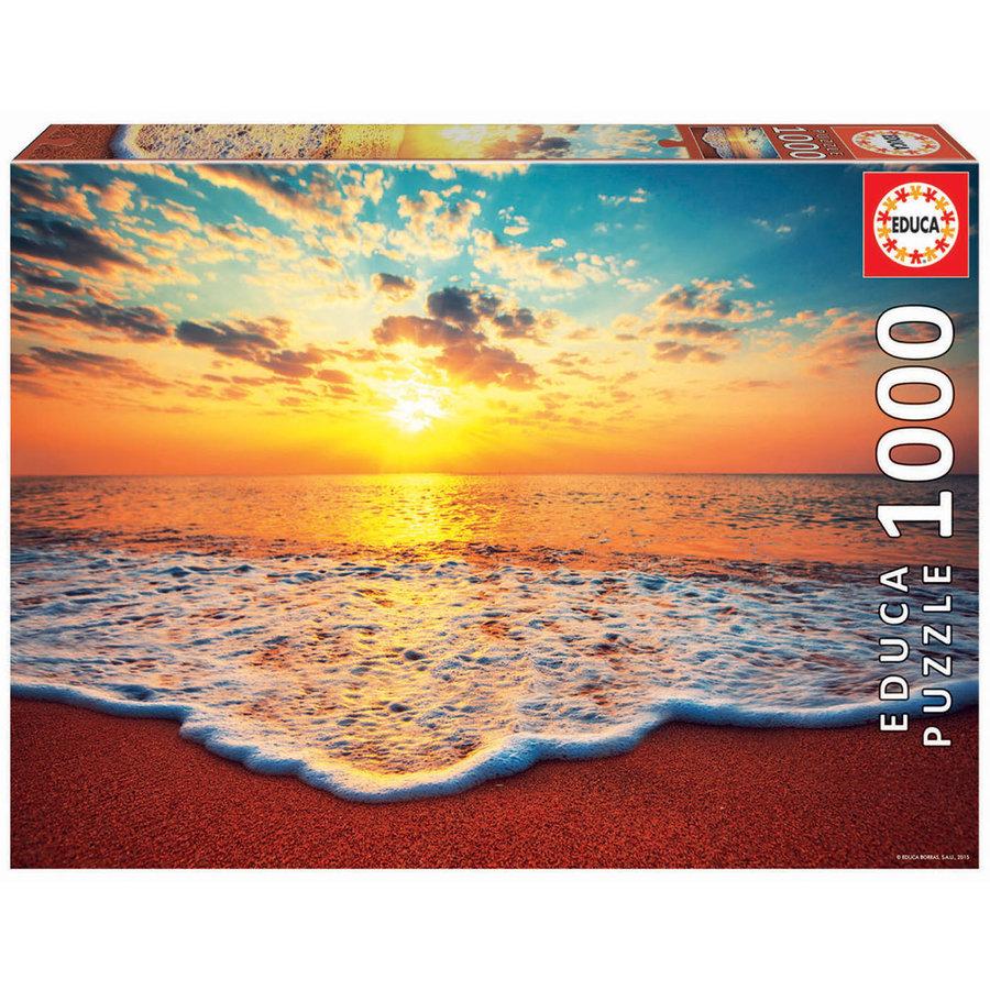 Ondergaande zon - puzzel 1000 stukjes-2
