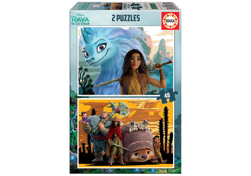 Educa Raya and the last dragon - 2 x 48 pieces