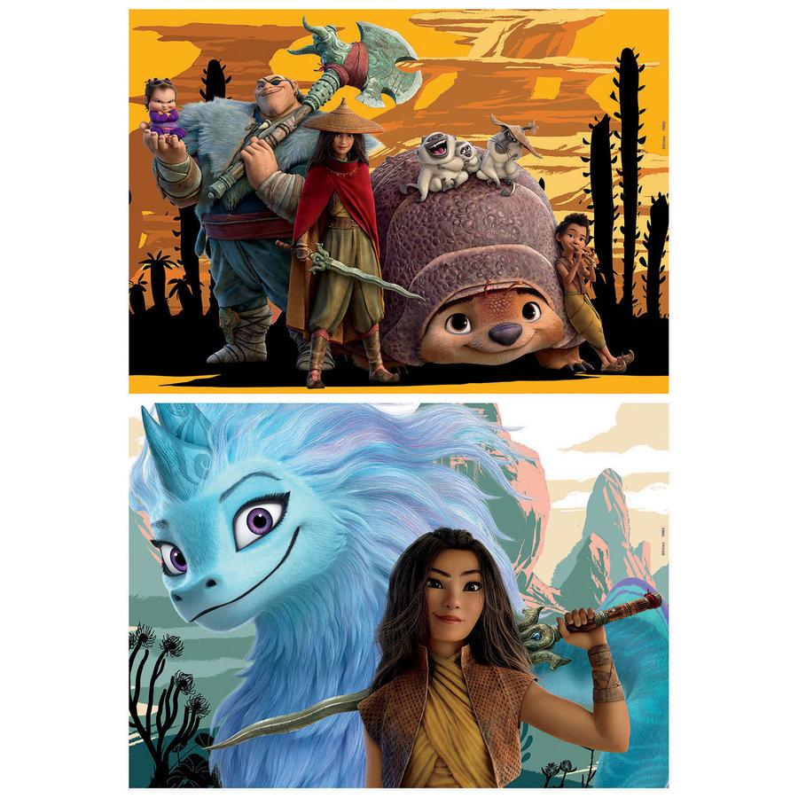 Raya en de laatste draak - 2 x 48 stukjes-2