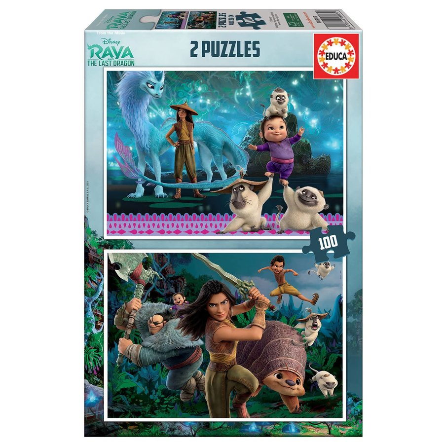 Raya and the last Dragon - 2 puzzles of 100 pieces-1