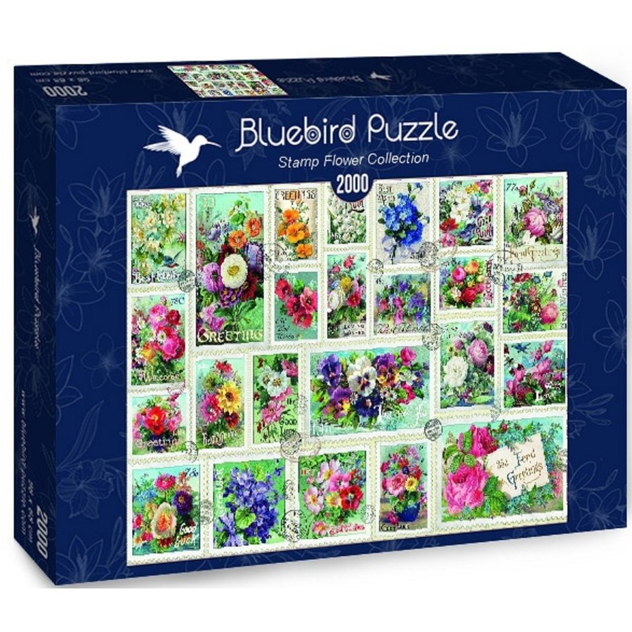 Stamp Flower Collection - puzzle of 2000 pieces-2