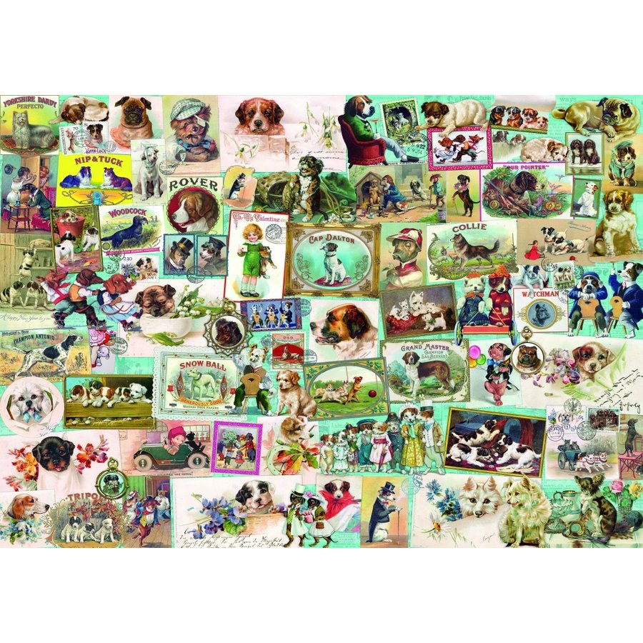 Honden - puzzel van 1500 stukjes-1