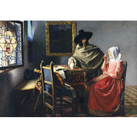thumb-Vermeer - The Glass of Wine, 1661 - 1000 pieces-1