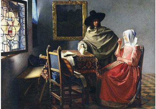 Bluebird Puzzle Vermeer - Het Wijnglas - 1000 stukjes