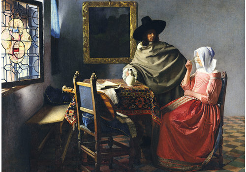 Bluebird Puzzle Vermeer - Le Verre à Vin - 1000 pièces