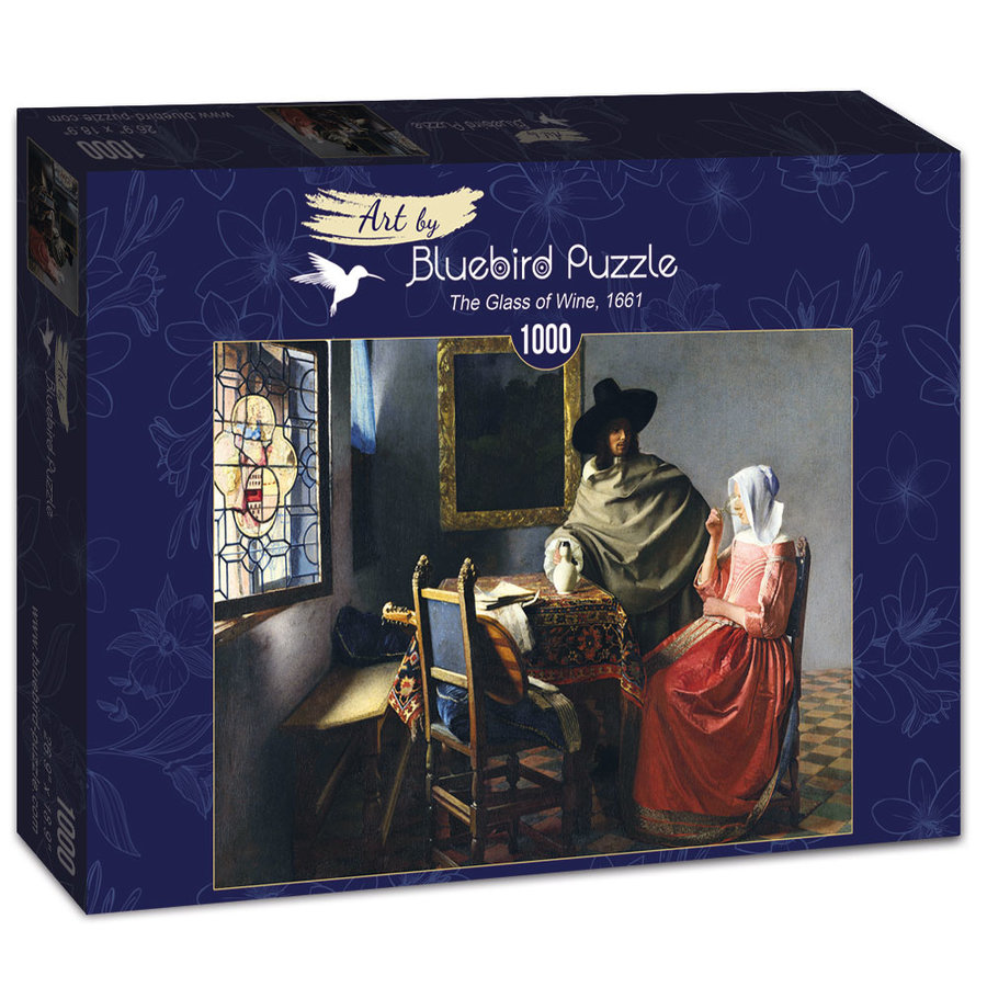 Vermeer - Het Wijnglas, 1661 - 1000 stukjes-2