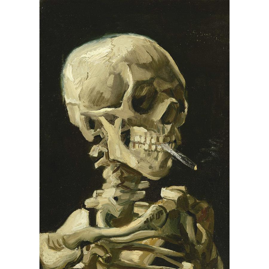 Vincent Van Gogh - Hoofd van een skelet met een brandende sigaret, 1886 - 1000 stukjes-1