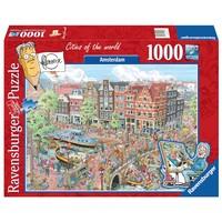 thumb-Amsterdam - Fleroux - puzzel van 1000 stukjes-2