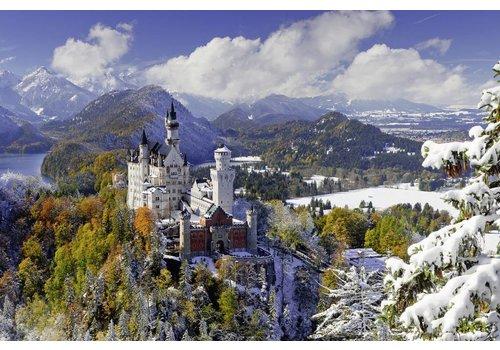 Neuschwanstein in de winter - 3000 stukjes