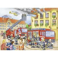 thumb-Les pompiers - puzzle de 100 pièces XXL-1