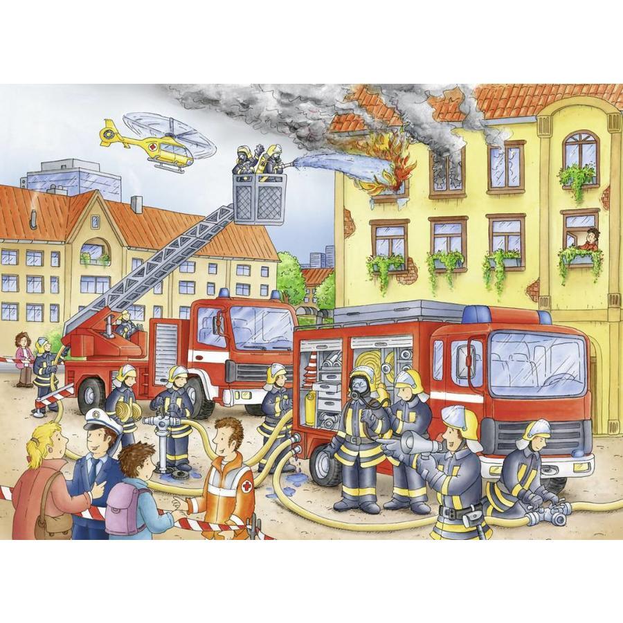 Les pompiers - puzzle de 100 pièces XXL-1