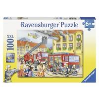 thumb-Les pompiers - puzzle de 100 pièces XXL-2