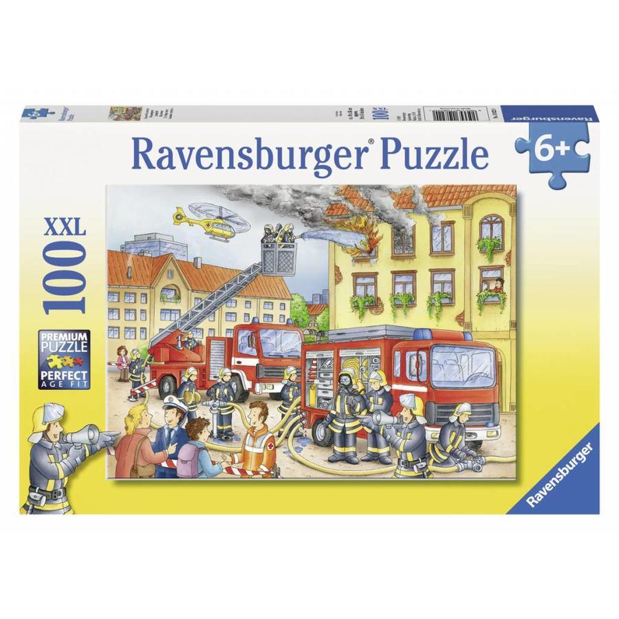 Les pompiers - puzzle de 100 pièces XXL-2