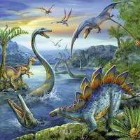 thumb-Dinosauriërs - 3 x 49 stukjes-2