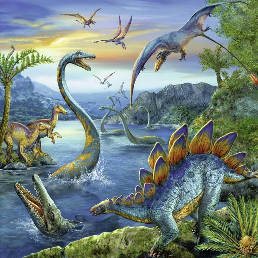Dinosauriërs - 3 x 49 stukjes-2