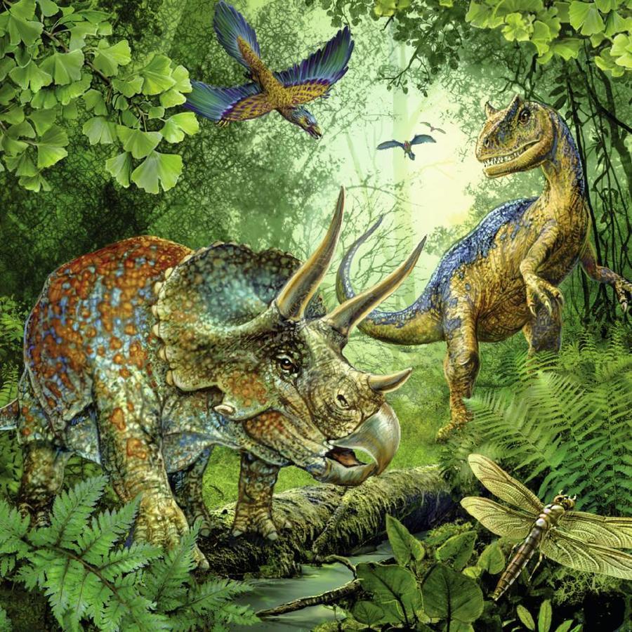 Dinosauriërs - 3 x 49 stukjes-3