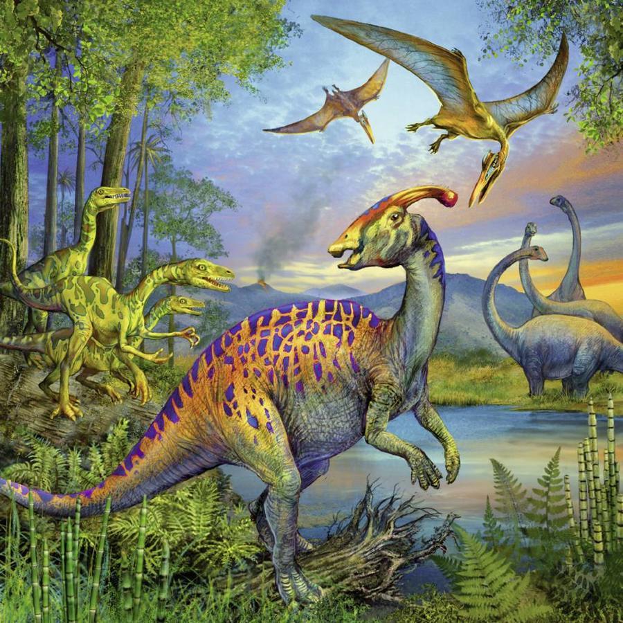 Dinosauriërs - 3 x 49 stukjes-4