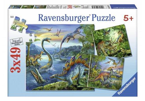 Ravensburger Dinosauriërs - 3 x 49 stukjes