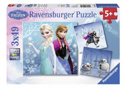 Ravensburger Frozen - winter adventure - 3 x 49 pièces