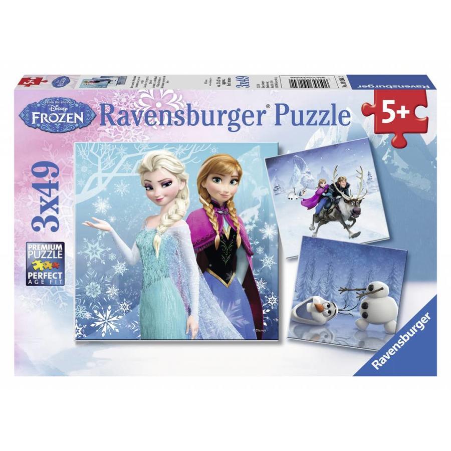 Frozen - winter adventure - 3 x 49 pieces-1