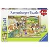 Ravensburger Vrolijk boerderijleven - 2 x 24 stukjes