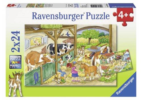 Ravensburger Joyeuse vie à la campagne - 2 x 24 pièces