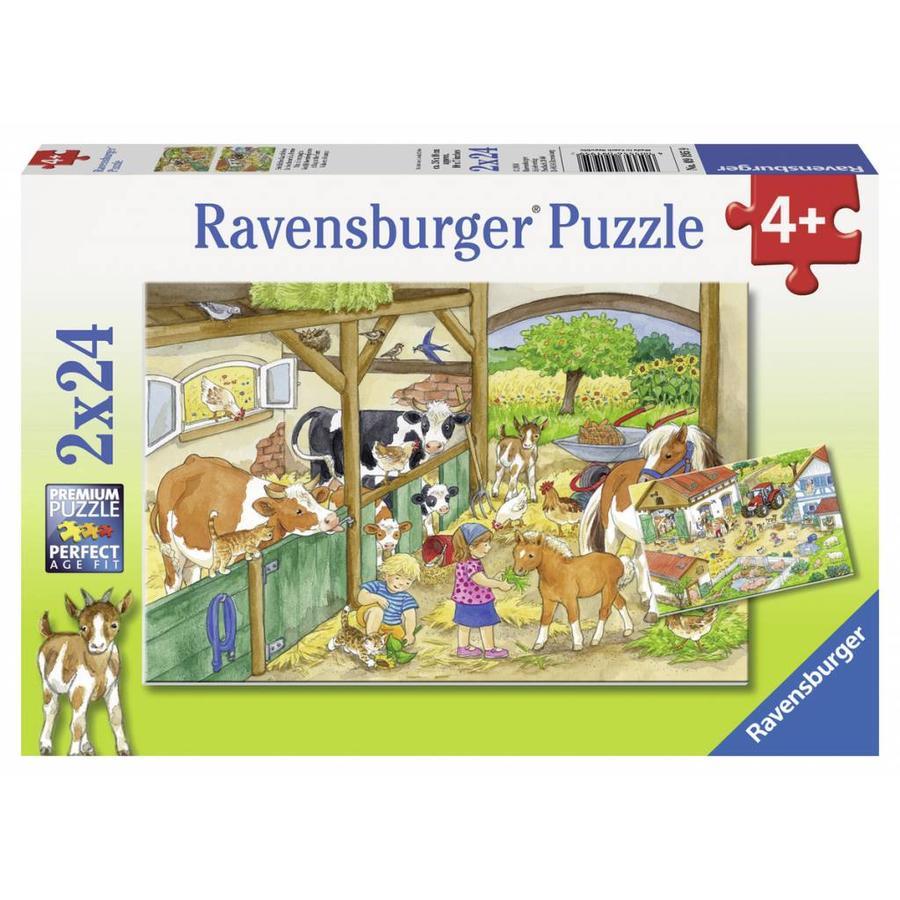 Vrolijk boerderijleven - 2 x 24 stukjes-1