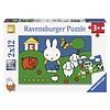 Ravensburger Miffy avec les animaux - 2 x 12 pièces