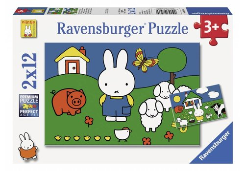 Miffy with the animals - 2 x 12 pieces