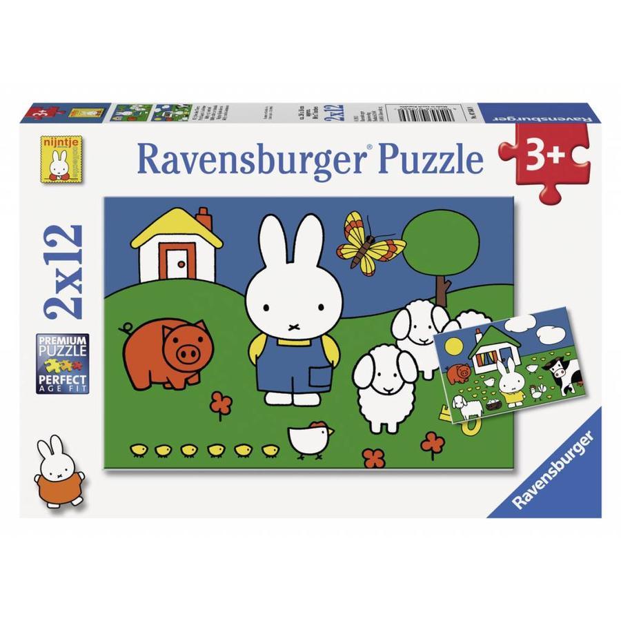 Miffy avec les animaux - 2 x 12 pièces-1