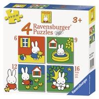 thumb-Miffy / Nijntje -  4 puzzles d'enfants de 6 + 9 + 12 + 16 pièces-6