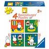Ravensburger Miffy / Nijntje -  4 puzzles d'enfants de 6 + 9 + 12 + 16 pièces