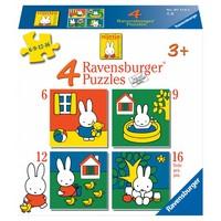 thumb-Miffy / Nijntje -  4 puzzles d'enfants de 6 + 9 + 12 + 16 pièces-1