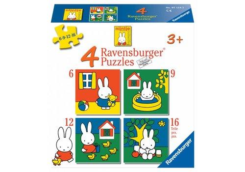 Ravensburger Miffy / Nijntje -  6 + 9 + 12 + 16 pièces