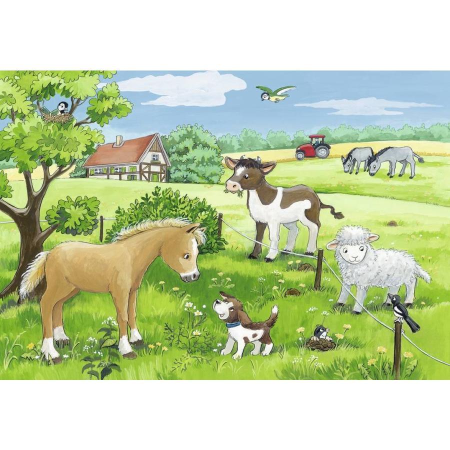 Jonge dieren op het platteland - 2 x 12 stukjes-2