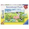 Ravensburger Jonge dieren op het platteland - 2 x 12 stukjes