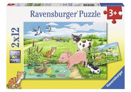 Ravensburger Jeunes animaux à la campagne - 2 x 12 pièces