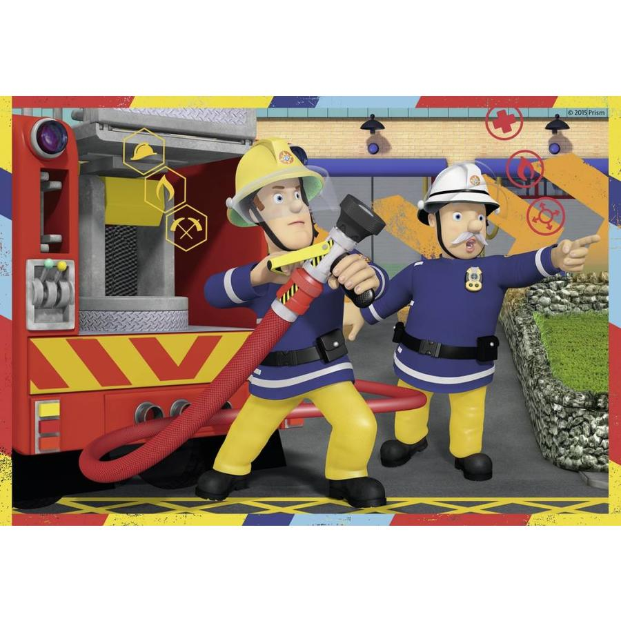 Fireman SAM in action - 2 puzzles of 12 pieces-3