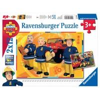 thumb-SAM pompier en action - 2 puzzles de 12 pièces-1