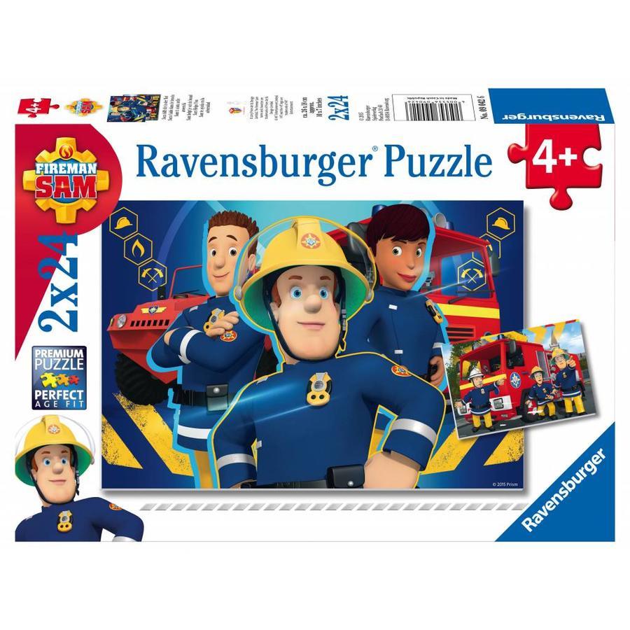 Brandweerman Sam helpt - 2 x 24 stukjes-2